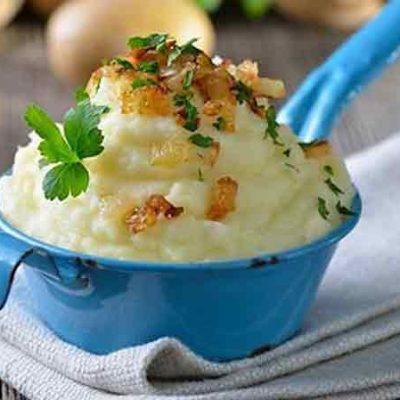 Bulvių košė su špinatais